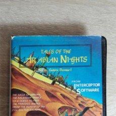 Videojuegos y Consolas: TALES OF THE ARABIAN NIGHTS-AMSTRAD CASSETTE-ESTUCHE NEGRO PVC-AÑO 1986.. Lote 151449286