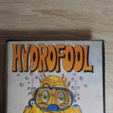 Videojuegos y Consolas: HYDROFOOL-AMSTRAD CASSETTE-EN ESTUCHE NEGRO GRANDE-AÑO 1988-CON TICKET COMPRA.. Lote 151893702