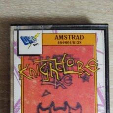 Videojuegos y Consolas: KNIGHT LORE-AMSTRAD CASSETTE-METACRILATO-DRO SOFT-AÑO 1988.. Lote 151894130