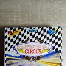 Videojuegos y Consolas: CONTINENTAL CIRCUS-AMSTRAD CASSETTE-CAJA-BOX-TAITO-AÑO 1989-COMO NUEVO.. Lote 151902962
