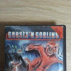 Videojuegos y Consolas: GHOSTS'N GOBLINS-AMSTRAD CASSETTE-ESTUCHE NEGRO PVC-ELITE-AÑO 1986-MUY DIFÍCIL.. Lote 152231938