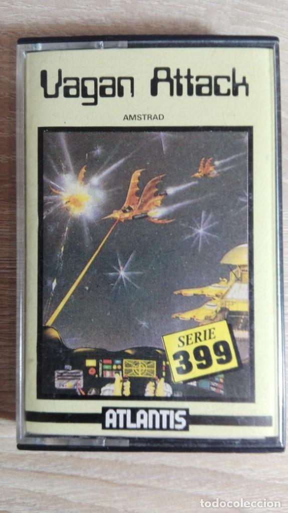 VAGAN ATTACK-AMSTRAD CASSETTE-EL PRIMERO DE ATLANTIS-AÑO 1987.DIFÍCIL. (Juguetes - Videojuegos y Consolas - Amstrad)