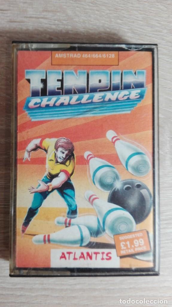 TENPIN CHALLENGE-AMSTRAD CASSETTE-ATLANTIS-AÑO 1987.MUY DIFÍCIL. (Juguetes - Videojuegos y Consolas - Amstrad)