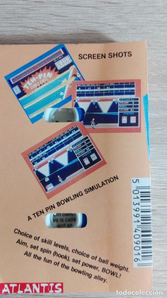 Videojuegos y Consolas: TENPIN CHALLENGE-AMSTRAD CASSETTE-ATLANTIS-AÑO 1987.MUY DIFÍCIL. - Foto 3 - 154393354