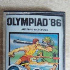 Videojuegos y Consolas: OLYMPIAD 86-AMSTRAD CASSETTE-ATLANTIS-AÑO 1987.. Lote 154393734