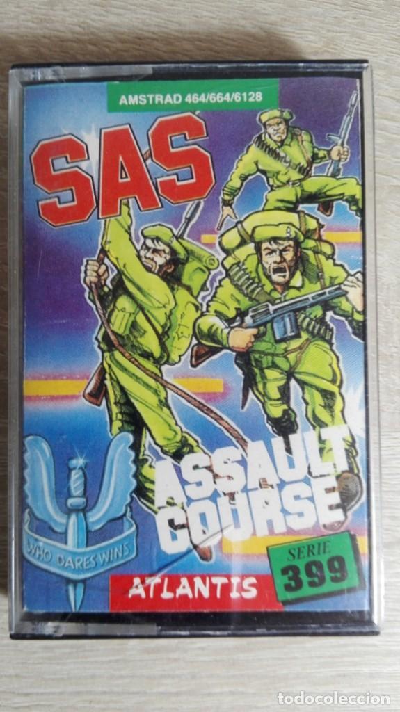SAS ASSAULT COURSE-AMSTRAD CASSETTE-ATLANTIS-AÑO 1987. (Juguetes - Videojuegos y Consolas - Amstrad)