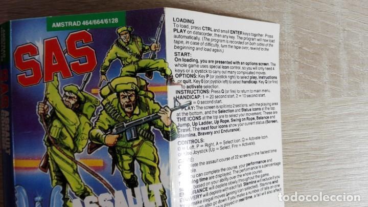 Videojuegos y Consolas: SAS ASSAULT COURSE-AMSTRAD CASSETTE-ATLANTIS-AÑO 1987. - Foto 5 - 154394010