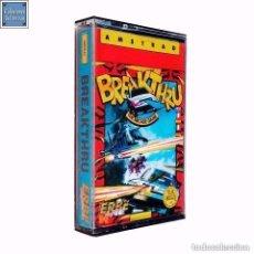 Videojuegos y Consolas: BREAKTHRU / JUEGO AMSTRAD CPC CINTA / ESPAÑOL / U.S. GOLD ERBE 1986. Lote 157732742