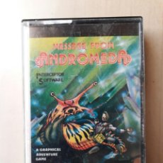 Videogiochi e Consoli: AMSTRAD JUEGO K7 -MESSAGE FROM ANDROMEDA- AMSOFT/VINTAGE 80S/MITICO. Lote 158953166