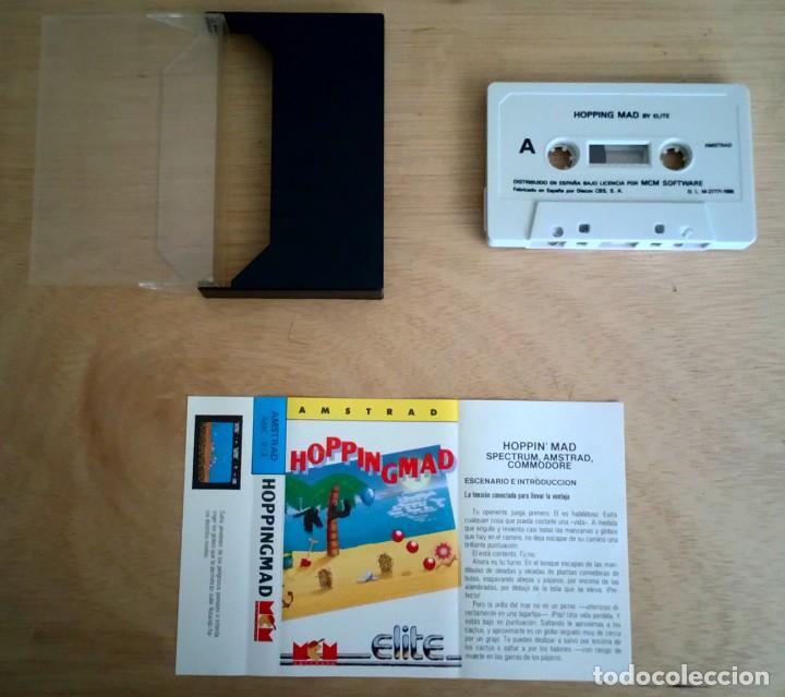 Videojuegos y Consolas: Hopping Mad / Hoppingmad / Juego Amstrad CPC Cinta / Español / Elite MCM 1988 - Foto 2 - 160086890