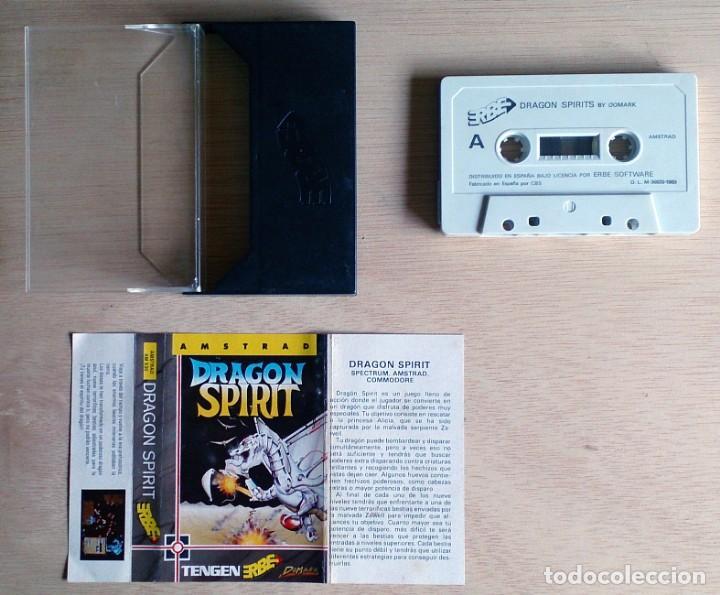 Videojuegos y Consolas: Dragon Spirit / Juego Amstrad CPC Cinta / Español / Erbe 1989 - Foto 2 - 161077698