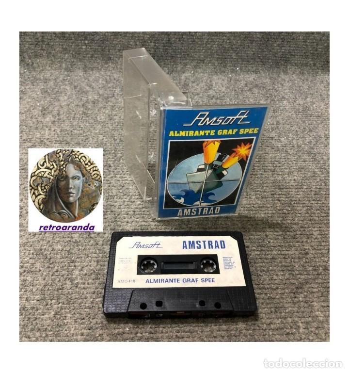 JUEGO AMSOFT AMSTRAD *ALMIRANTE GRAF SPEE* .... CASSETTE. (Juguetes - Videojuegos y Consolas - Amstrad)