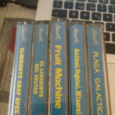 Videojuegos y Consolas: PACK DE 5 CASETTES AMSOFT. Lote 168353464
