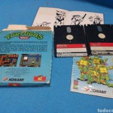 Videojuegos y Consolas: JUEGO AMSTRAD DISCO, TORTUGAS NINJA, KONAMI, CON MANUAL DE INSTRUCCIONES. Lote 168685649
