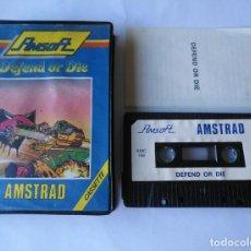 Videojuegos y Consolas: DEFEND OR DIE AMSTRAD. Lote 170855340