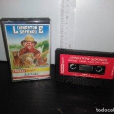 Videojuegos y Consolas: JUEGO CINTA CASSETTE LIVINGSTONE SUPONGO AMSTRAD. Lote 171845007