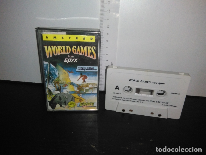 JUEGO CINTA CASSETTE WORLD GAMES AMSTRAD (Juguetes - Videojuegos y Consolas - Amstrad)