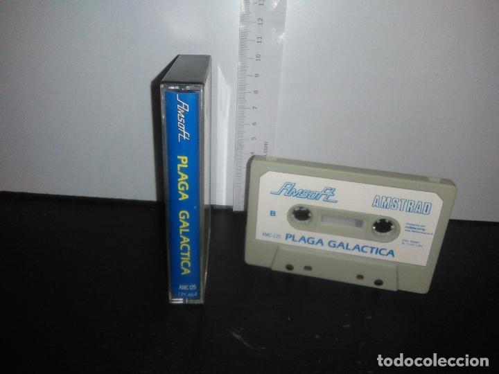 Videojuegos y Consolas: juego cinta cassette plaga galactica amstrad - Foto 2 - 171947363