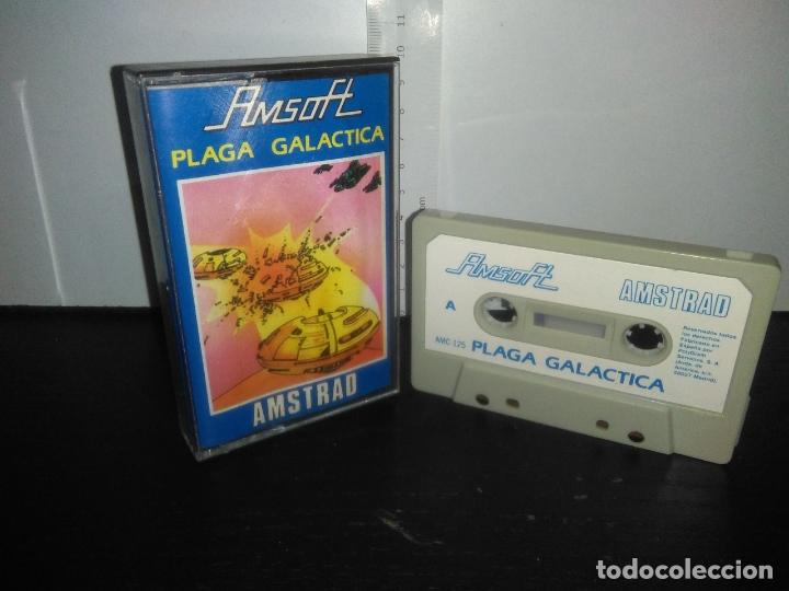 JUEGO CINTA CASSETTE PLAGA GALACTICA AMSTRAD (Juguetes - Videojuegos y Consolas - Amstrad)