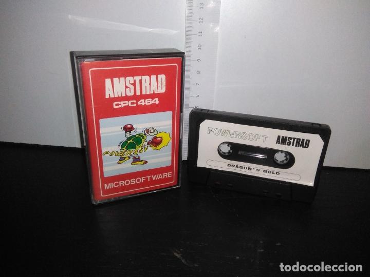 JUEGO CINTA CASSETTE DRAGON'S GOLD AMSTRAD (Juguetes - Videojuegos y Consolas - Amstrad)