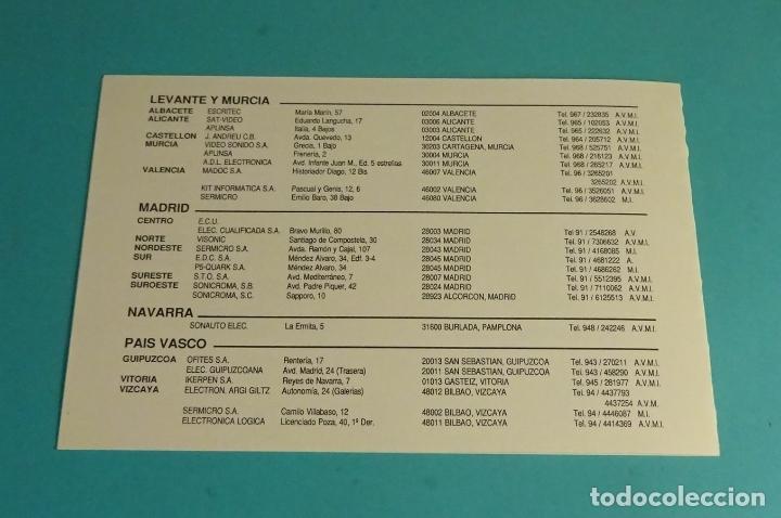 Videojuegos y Consolas: DÍPTICO SERVICIOS DE ASISTENCIA TÉCNICA AMSTRAD - Foto 3 - 172131714