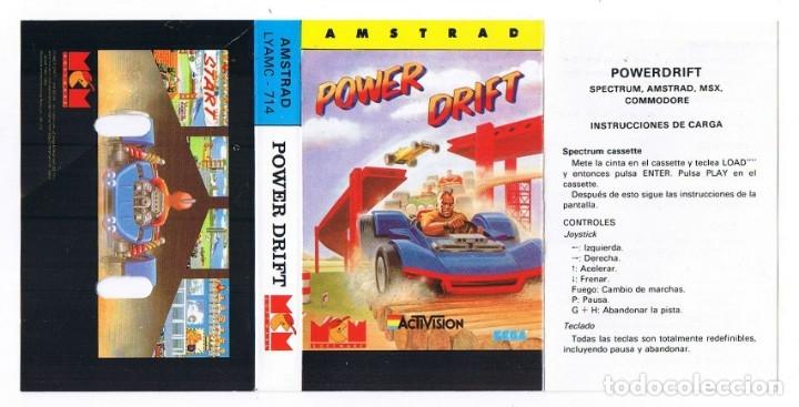 AMSTRAD - POWER DRIFT - SOLO CARÁTULA (Juguetes - Videojuegos y Consolas - Amstrad)