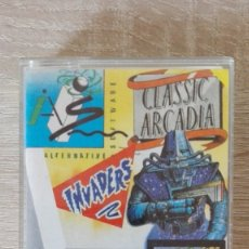 Videojuegos y Consolas: CLASSIC ARCADIA-3 X 1-INVADERS-MUNCHER Y CLASSIC AXIENS-AMSTRAD CASSETTE-SYSTEM 4-AÑO 1988. Lote 173588077