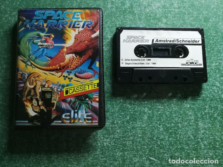 Videojuegos y Consolas: JUEGO AMSTRAD SPACE HARRIER - CINTA CASSETTE - Foto 2 - 175325549