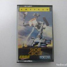 Videojuegos y Consolas: SHORT CIRCUIT DE ERBE / AMSTRAD CPC 464 - 6128 / RETRO VINTAGE / CASSETTE - CINTA / CLÁSICO. Lote 175724812