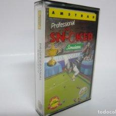 Videojuegos y Consolas: PROFESSIONAL SNOOKER / AMSTRAD CPC 464 - 6128 / RETRO VINTAGE / CASSETTE - CINTA / CLÁSICO. Lote 175725013