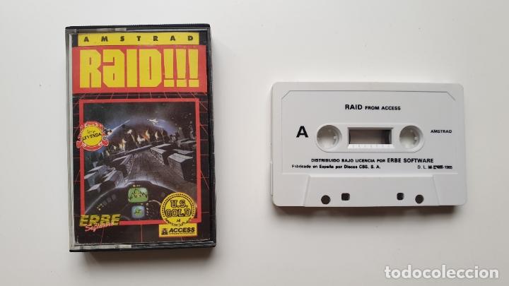 RAID!!! - AMSTRAD CASSETE - COMO NUEVO - ACCESS (Juguetes - Videojuegos y Consolas - Amstrad)