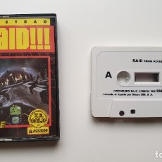 Videojuegos y Consolas: RAID!!! - AMSTRAD CASSETE - COMO NUEVO - ACCESS. Lote 179123961