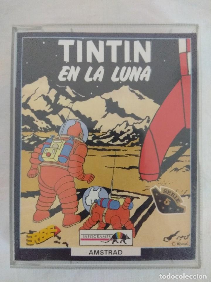 JUEGO AMSTRAD/TINTIN EN LA LUNA. (Juguetes - Videojuegos y Consolas - Amstrad)