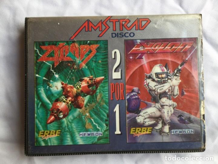 ZYNAPS EXOLON 2 POR 1 AMSTRAD DISCO (Juguetes - Videojuegos y Consolas - Amstrad)