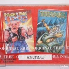Videojuegos y Consolas: VIDEOJUEGO PRECINTADO PARA CONSOLA AMSTRAD - PSYCHO PIGS UXB / TITANIC - TEXTO CATALÁN - ERBE, 1989. Lote 182500230