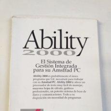Videojuegos y Consolas: ABILITY 2000. EL SISTEMA DE GESTIÓN INTEGRADA PARA SU AMSTRAD PC. Lote 186253783