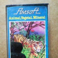 Videojuegos y Consolas: JUEGO AMSTRAD AMSOFT: ANIMAL, VEGETAL, MINERAL (1985). AMC 300. AMSTRAD ESPAÑA/INDESCOMP. Lote 187180656