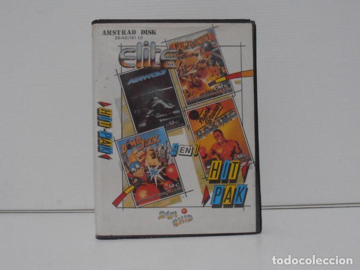 JUEGO AMSTRAD CPC DISCO, HIT PACK, BOXING, COMMANDO, BOMB JACK , AIR WOLF, ESTUCHE, ZAFIRO (Juguetes - Videojuegos y Consolas - Amstrad)
