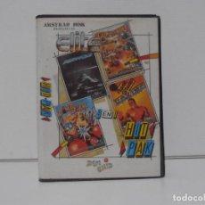 Videojuegos y Consolas: JUEGO AMSTRAD CPC DISCO, HIT PACK, BOXING, COMMANDO, BOMB JACK , AIR WOLF, ESTUCHE, ZAFIRO. Lote 190466856