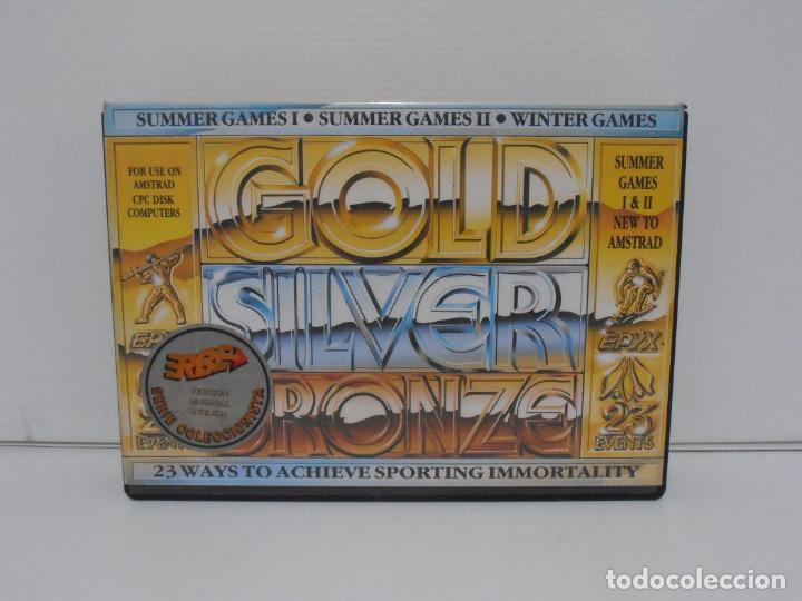 JUEGO AMSTRAD CPC DISCO,GOLDEN SILVER, SUMMER Y WINTER GAMES, CAJA CARTON, ERBE (Juguetes - Videojuegos y Consolas - Amstrad)