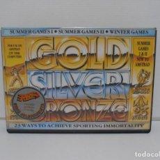 Videojuegos y Consolas: JUEGO AMSTRAD CPC DISCO,GOLDEN SILVER, SUMMER Y WINTER GAMES, CAJA CARTON, ERBE . Lote 190723407
