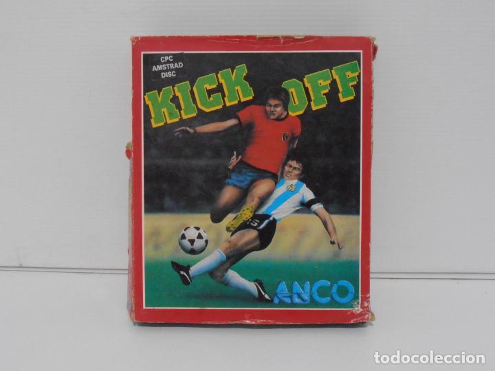 JUEGO AMSTRAD CPC DISCO, KICK OFF, CAJA CARTON, ANCO (Juguetes - Videojuegos y Consolas - Amstrad)