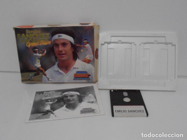 Videojuegos y Consolas: JUEGO AMSTRAD CPC DISCO, EMILIO SANCHEZ VICARIO GRAN SLAM, CAJA CARTON, ZIGURAT - Foto 2 - 190724900
