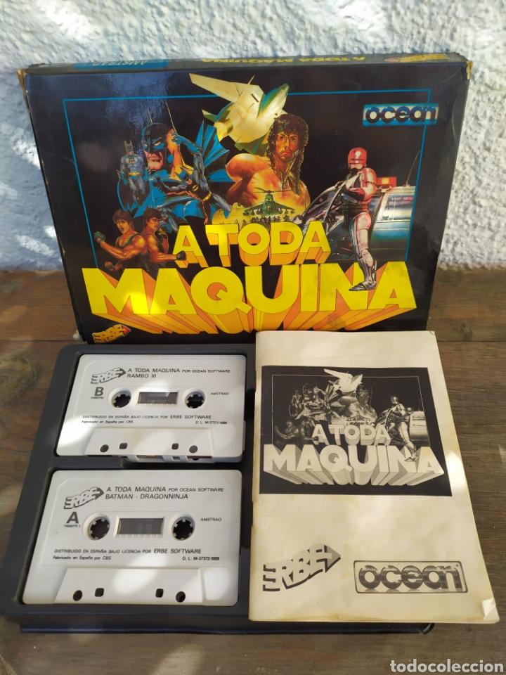 A TODA MAQUINA, JUEGO AMSTRAD. PACK DE 5 JUEGOS BATMAN, ROBOCOP, RAMBO... (Juguetes - Videojuegos y Consolas - Amstrad)