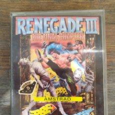 Videojuegos y Consolas: RENEGADE III. JUEGO AMSTRAD. Lote 194212323