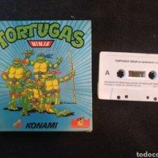 Videojuegos y Consolas: TORTUGAS NINJA, JUEGO AMSTRAD.KONAMI. Lote 194384868