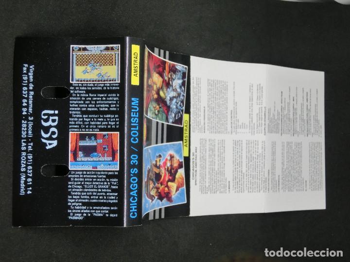 Videojuegos y Consolas: CASETE VIDEOJUEGO AMSTRAD - CHICAGOS 30 COLISEUM - TOPO SOFT - 1988 - Foto 5 - 194741141