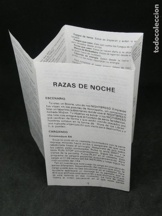 Videojuegos y Consolas: CASETE VIDEOJUEGO AMSTRAD - RAZAS DE NOCHE NIGHT BREED - 1990 ERBE - Foto 5 - 194741612