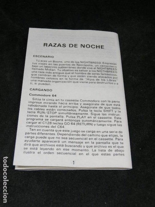 Videojuegos y Consolas: CASETE VIDEOJUEGO AMSTRAD - RAZAS DE NOCHE NIGHT BREED - 1990 ERBE - Foto 6 - 194741612