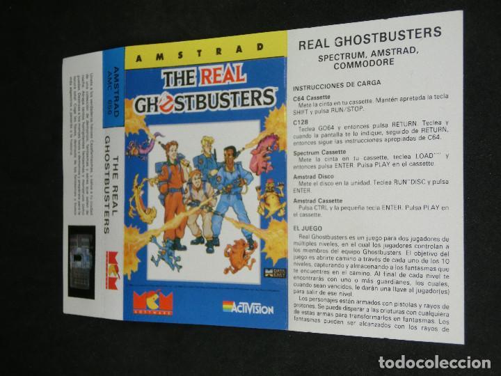 Videojuegos y Consolas: CASETE VIDEOJUEGO AMSTRAD - THE REAL GHOSTBUSTERS - 1989 ACTIVISION - Foto 5 - 194741741